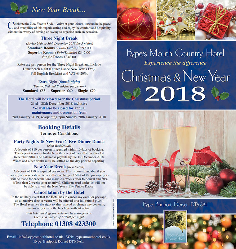 Christmas & New Year - Eypes Mouth Country Hotel